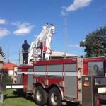Работая на мачте радиолюбительской антенны будьте внимательны и осторожны!