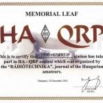 HA-QRP Contest объявлен международным