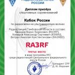 Дипломы за Кубок РФ 2013 на УКВ
