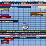 Расписание DX экспедиций в ноябре 2014 г.