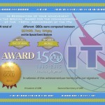 """Дипломы и специальные призы """"150 лет МСЭ (ITU)"""""""