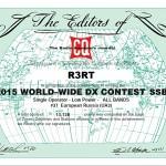 Результаты CQ WW SSB 2015