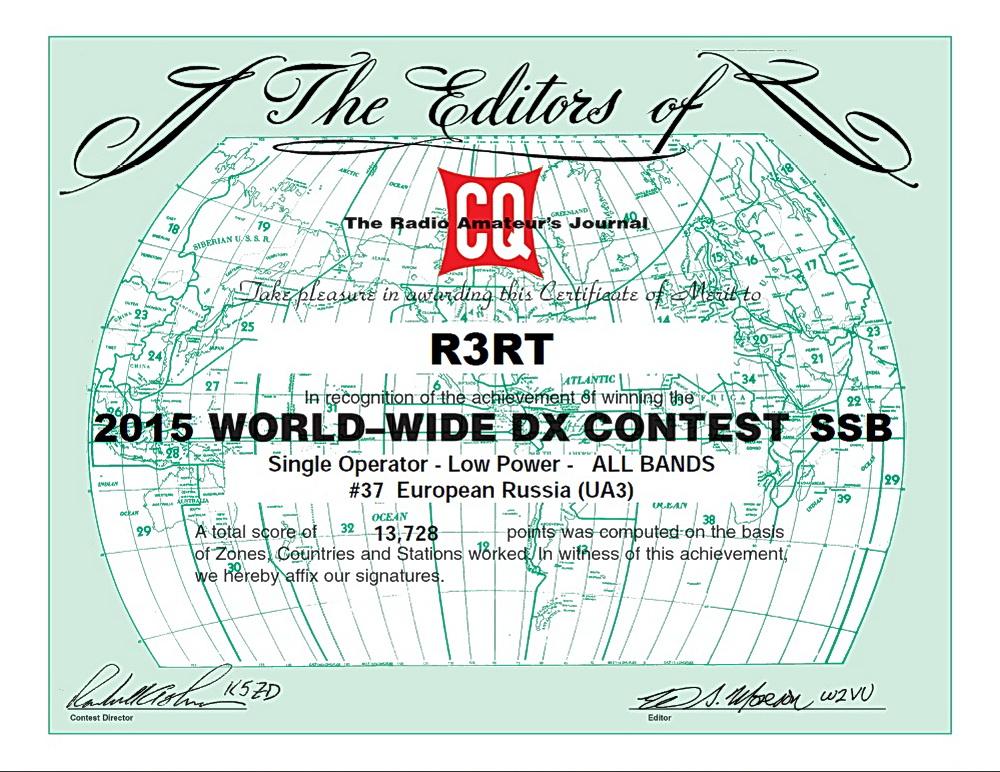 Сертификат R3RT WWSSB 2016