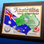 """Плакетка """"Австралия, острова на краю земли"""""""