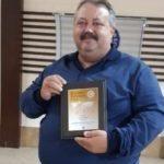 Харченко Олег, RA3RFT награжден плакеткой за лучшую RRA экспедицию 2019-2020 в Европе